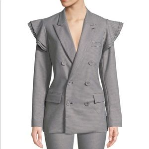 Opening ceremony tailored houndstooth blazer